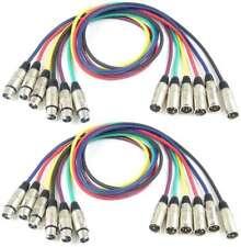2 Sets 1 m Adam Hall XLR Mikrofonkabel Patchkabel 6 Farben Neutrik kompatibel