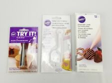 (Lot of 3) Candy Decorating Disposable Bags, Fondant Cutter, Filling Tip Kit New