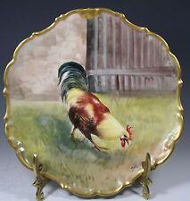 Beautiful  Limoges France  Plate Gold Trim ARTIST SIGNED