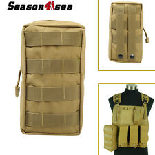 600D Tactical MOLLE Tool Utility Accessory Vest Pouch Hunting Bag 4/Backpack Tan