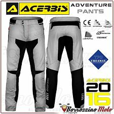 PANTALON MOTO ACERBIS ADVENTURE IMPERMÉABLE ENDURO TOURING GRIS TAILLE XL 52
