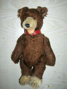 "Uralter STEIFF Teddy - Brauner Bär "" Teddy Baby "" 23cm - ca. 40er/50er Jahre"