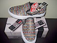 Vans X Classic Slip On Womens Nintendo Zelda Black Leather Skate shoes Size 8.5