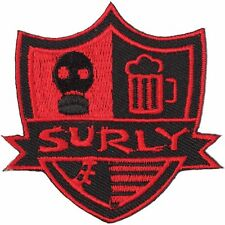 """Surly """"Stripes"""" Shield Sew-on Embroidered Bicycle Patch"""
