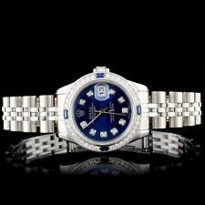 Rolex SS DateJust 1.00ct Diamond Ladies Watch Lot 719