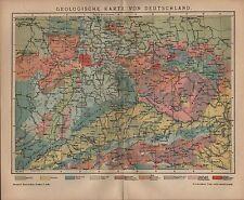Landkarte map 1901: GEOLOGISCHE KARTE VON DEUTSCHLAND.