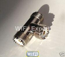 UHF TRI Female SO-239 Jack to double UHF Female Triple T type Adapter SO 239 USA