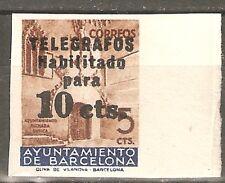BARCELONA TELEGRAFOS EDIFIL 9** SIN DENTAR VALOR 140 €