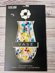 "MODGY expandable Flower Vase - colorful ""Foliage"" leaf design"