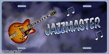 JAZZMASTER GIBSON JAZZ GUITAR ART ON LICENSE PLATE