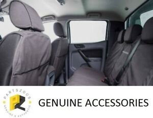 Ford Ranger PXII PXIII Genuine Black Canvas Front & Rear Seat Covers Set