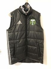 2015 Portland Timbers Down Vest Soccer Jersey MLS USA Army Adidas Medium