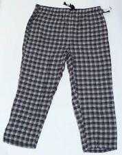 NEW BIG & TALL HARBOR BAY MEN'S BLACK PLAID FLANNEL LOUNGE PANTS PJ'S PAJAMAS