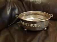 Vintage Epns Silver Regis Plated Winged footed Reticulated Vegetable Dish