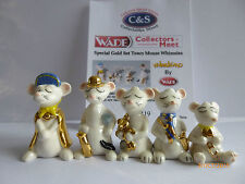 WADE- SPECIAL GOLD SET TOWN MOUSE WHIMSIES LE 200