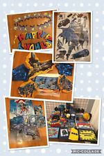 Batman Dc Comics Birthday Party Decor Decorations Supplies Figures Huge Lot- Euc