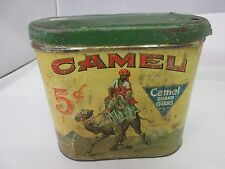 CAMEL CIGARS  TOBACCO CANISTER VINTAGE  ADVERTISING TIN CAN 760-T