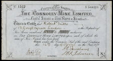 Connolly Mine Ltd., £5 shares, 1879, mine in Nevada