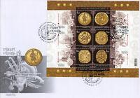 Ukraine 2017 FDC Cossacks Regalia 6v M/S Cover Emblems Coins Stamps