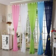 Star Tulle Curtains Living Room Clear Tulle Curtains Window Drapes Sheer Bedroom