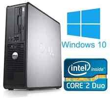 Windows 10 computadora Dell OptiPlex Torre de PC de Escritorio Intel 4GB Ram 250GB HDD WIFI
