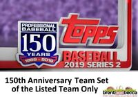 ARIZONA DIAMONDBACKS 2019 Topps Series 2 150th Anniversary Parallel TEAM LOT x10