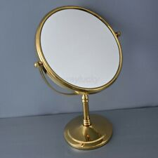 Gold Brass Round Double Side 8-inch Makeup Mirrors Desktop Magnifying Mirror