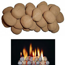 30 Replacement Beige Large Pebble cast coals for gas fires