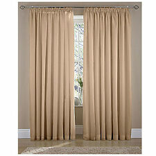 Polycotton Solid Curtains & Pelmets with Pencil Pleat