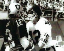 KEN STABLER & TERRY BRADSHAW 8X10 PHOTO OAKLAND RAIDERS PICTURE NFL FOOTBALL