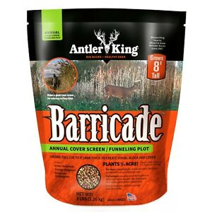 Antler King BARRICADE Annual Clover Screen Funneling Plot Seed 3lbs