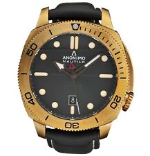 Anonimo Men's Nautilo Black Leather Strap Swiss Automatic Watch AM100104001A01