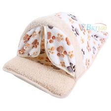 New Pets Dog Cat Puppy Warm House Nest Bed Cave Sleeping Cushion Mat Kennel M EB