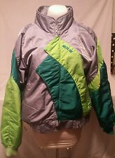 Vintage Bomber Arctic Cat Womens Gray & Greens Winter Jacket Snowmobile