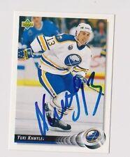 92/93 Upper Deck Yuri Khmylev Buffalo Sabres Autographed Hockey Card