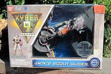"1999 BanDai Xyber 9 New Dawn Action Figure LJach's Scout Glider + 4"" Figure MIB"