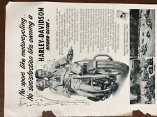 ca3 ephemera 1952 advert harley davidson milwaukee hydra glide