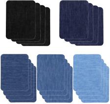 20 piezas de parches de mezclilla para planchar para reparar ropa en el interior