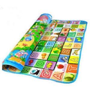 2 Side Baby Play Mat Kids Crawling Educational Soft Foam Baby Carpet 200x180cm