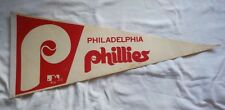 VINTAGE BASEBALL 1980 PHILADELPHIA PHILLIES FULL SIZE FELT PENNANT RARE