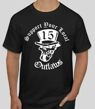 Support your local Outlaws Biker Motorcycle MC 15 t shirt outlaw Skull