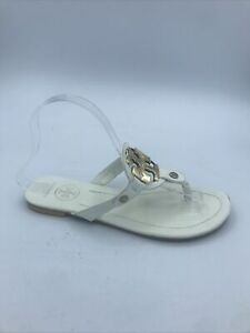 Tory Burch Miller Thong Leather Sandals Used Size 8