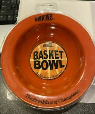 Wheaties Basket Bowl 2002 Collectible Plastic Basketball Cereal Bowl - Brand New