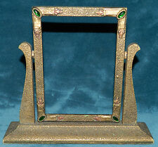 BEAUTIFUL ANTIQUE VINTAGE WOOD GOLD TEXTURED SWING PICTURE PHOTO FRAME! JEWELS