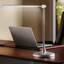"daylight24 Extended Reach Ultra-bright Reading Table LED Light Lamp 22"" H Silver"