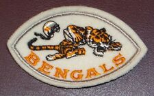 VINTAGE CINCINNATI BENGALS NFL LOGO FOOTBALL SHAPED SEW ON PATCH