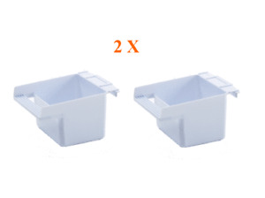 Feeder Seed Water Cup Bird Cage Plastic Feed Dish Replacement, Pack of 2
