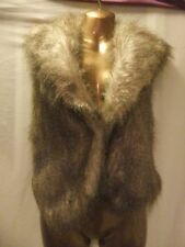Faux Fur V Neck Regular Size Waistcoats for Women