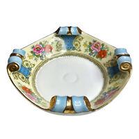 Vintage Art Deco Noritake Morimura Floral Scroll Porcelain Serving Bowl