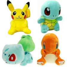 4Pcs Set Pokemon Plush Toys Pikachu Bulbasaur Squirtle Charmander Soft Us Stock